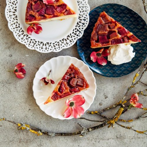 Rhubarb And Marzipan Upside Down Cake And Some News Hummingbird High