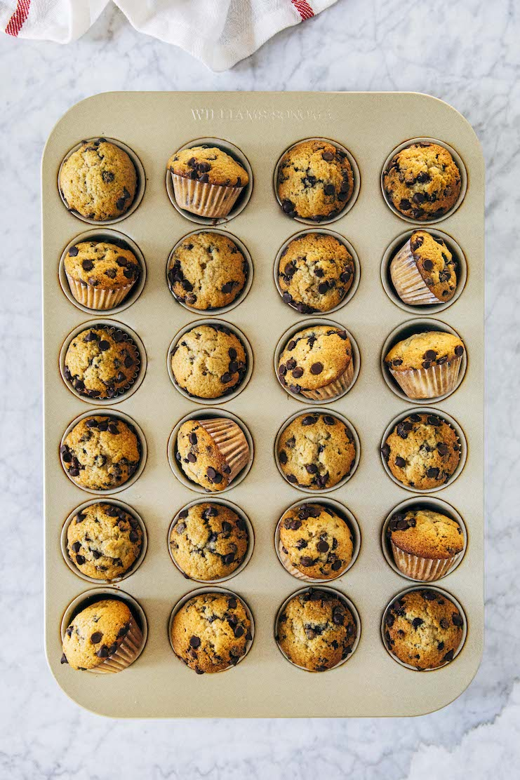 mini banana chocolate chip muffins