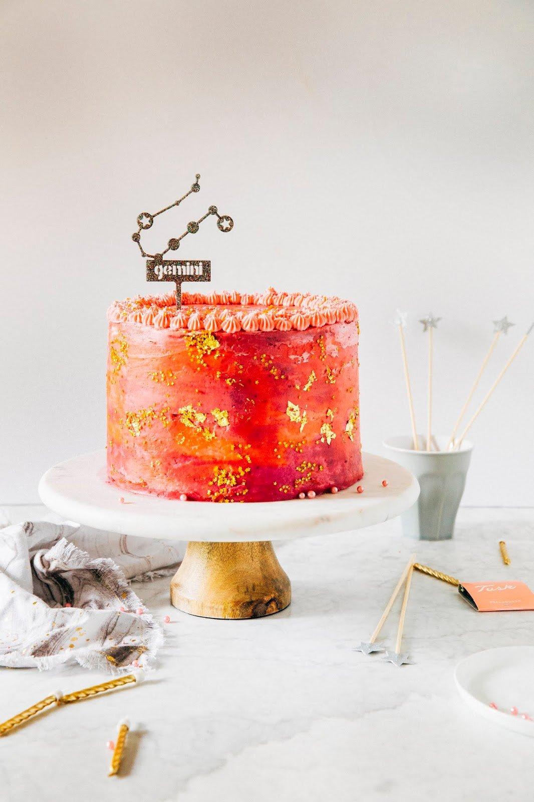 Outstanding Pink Galaxy Birthday Cake Hummingbird High Funny Birthday Cards Online Barepcheapnameinfo