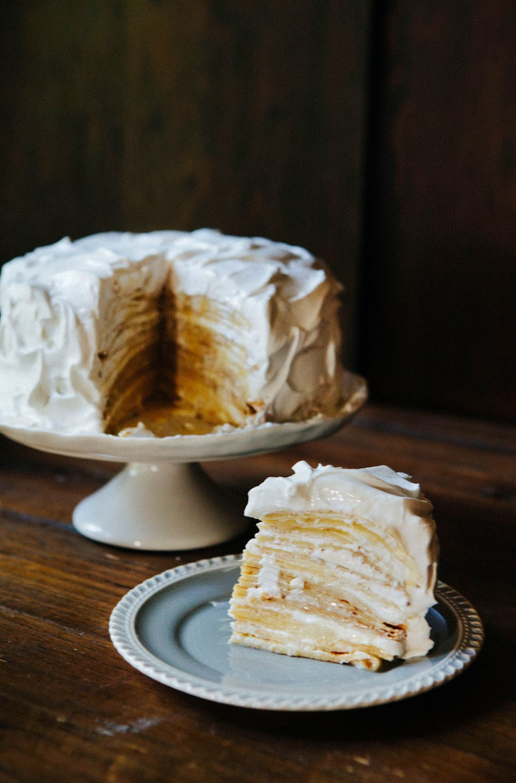 Coconut Cream Crepe Cake Hummingbird High
