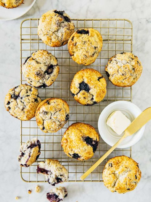 small batch blueberry scones
