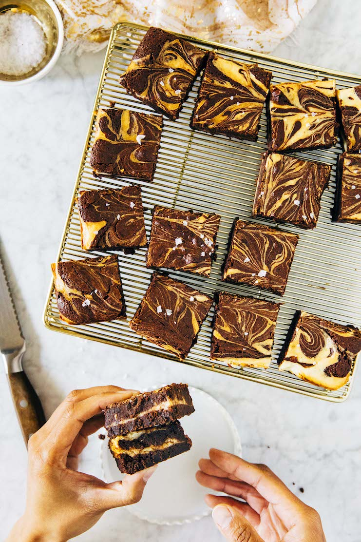 flourless gluten free cheesecake brownies