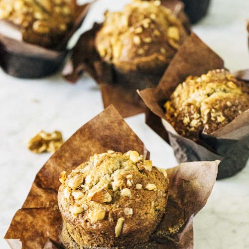 small batch banana nut muffins