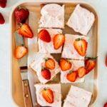 small batch strawberry cake