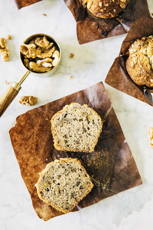 small batch banana nut muffins