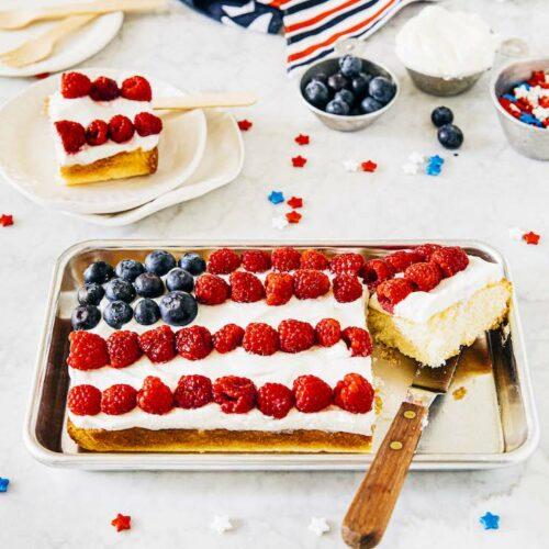 mini american flag cake
