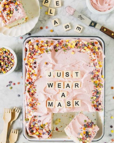 wear a mask cake