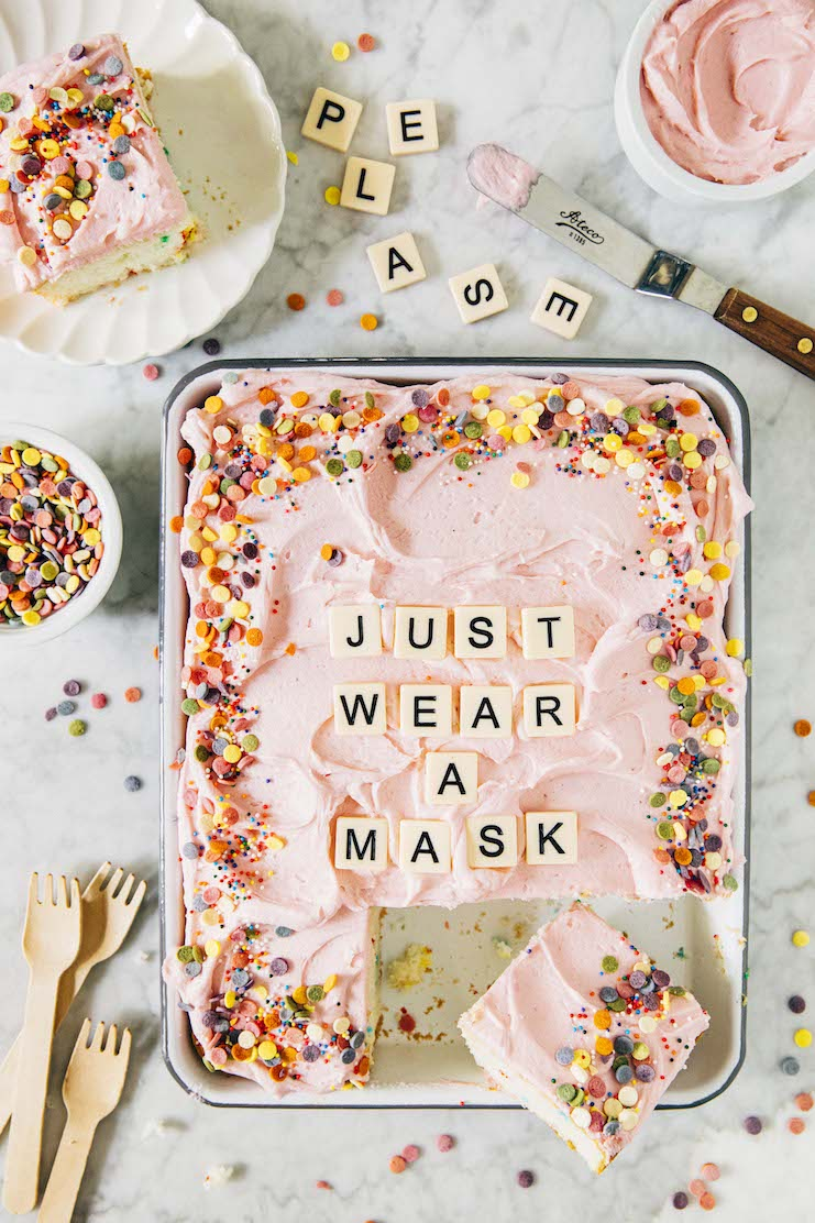 please just wear a mask cake