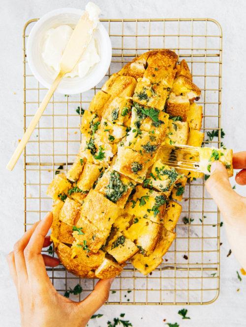 small batch cheesy garlic bread