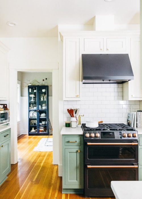 Kitchen with Cafe Appliances