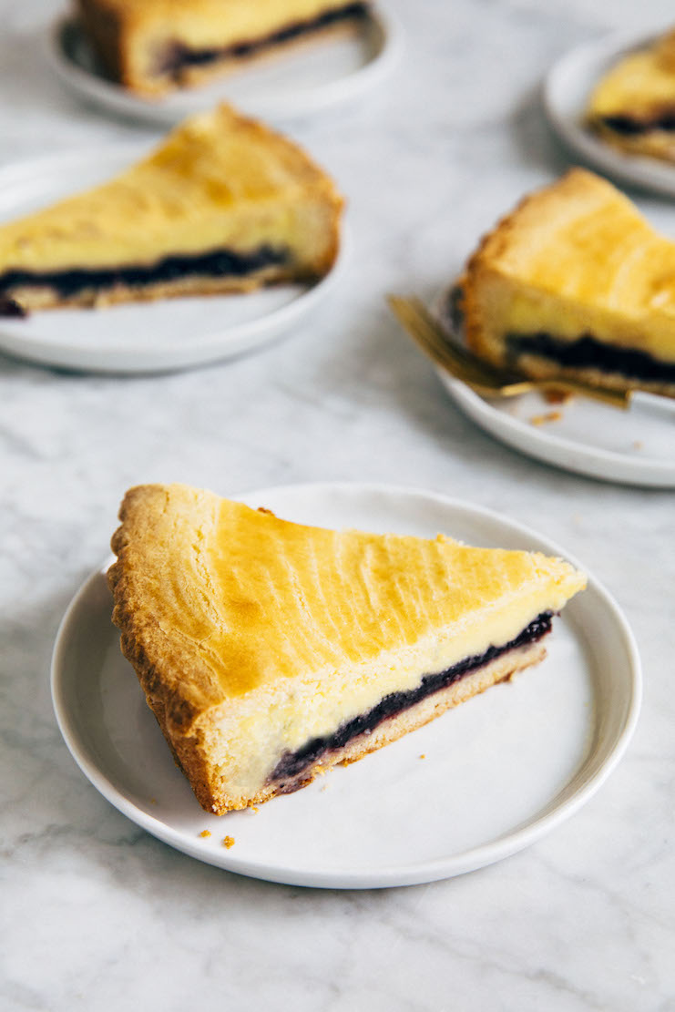 gateau basque slice