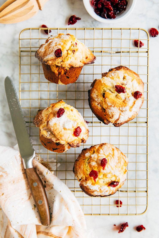 small batch cranberry orange muffins