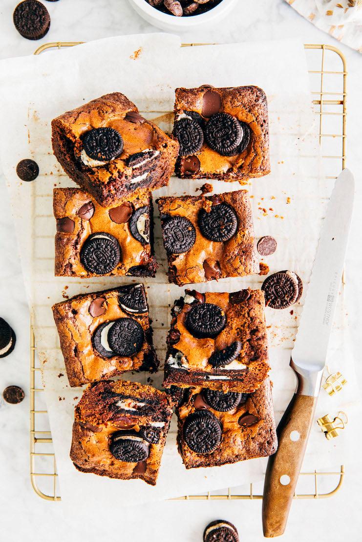small batch slutty brownies