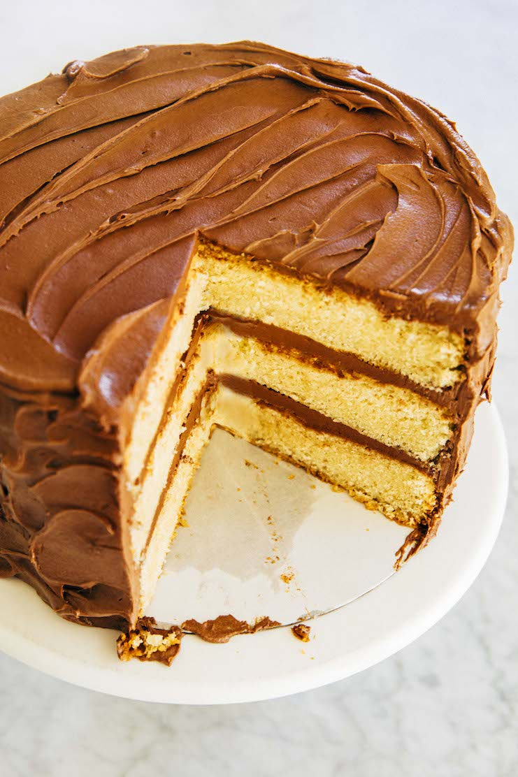 my best yellow cake with chocolate frosting recipe