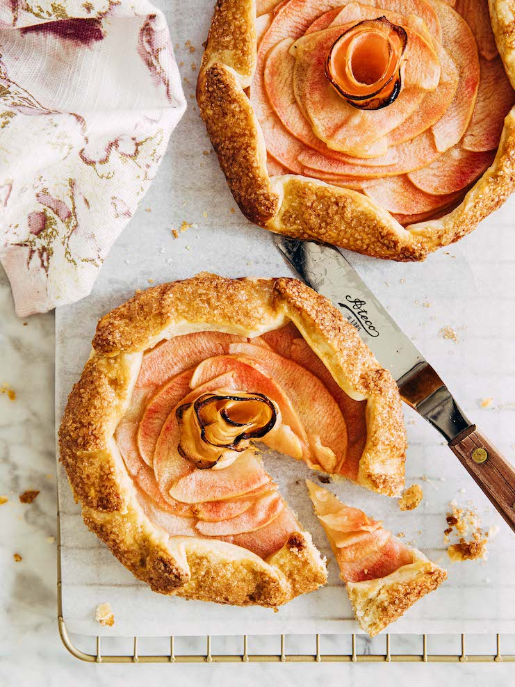 small batch apple galette sliced