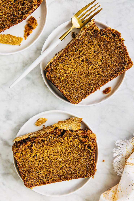 slice of pumpkin chai bread