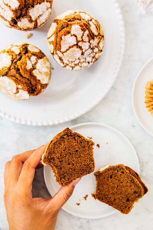 small batch pumpkin muffin recipe crumb